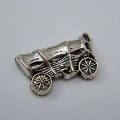 Cowboy Wagon Keyring - Double Charm Style